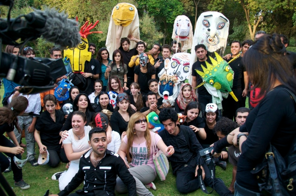 Sulyon members shortly after performing their mask project